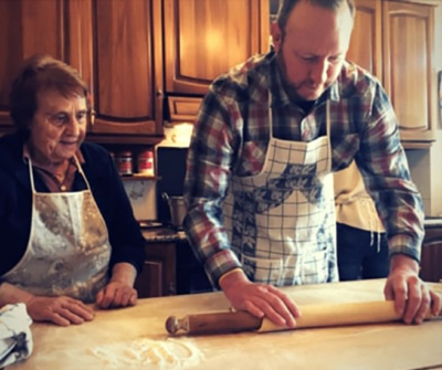 handmade pasta with grandma tourism
