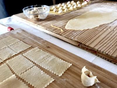 handmade pasta with granda sirolo pasta