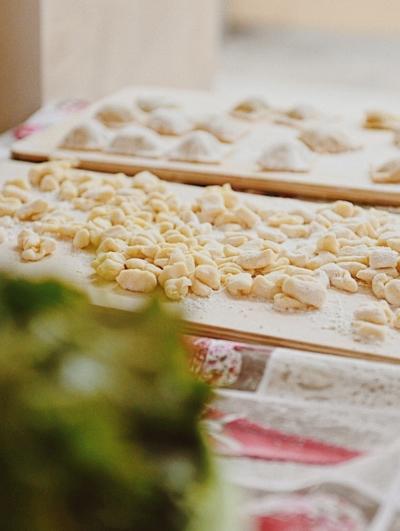 handmade pasta with grandma gnocchi dough