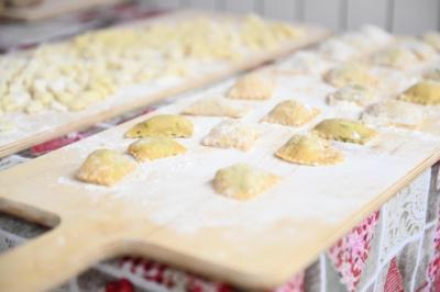 handmade pasta with grandma ravioli