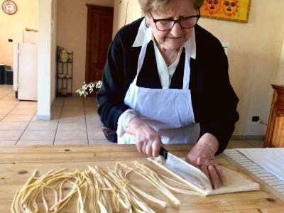 handmade pasta with grandma sant angelo romano
