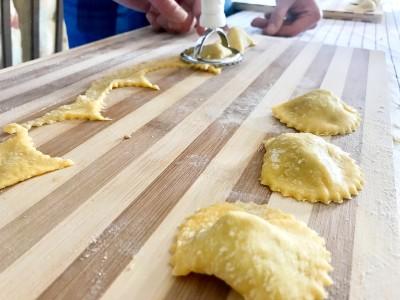 handmade pasta with grandma sant angelo romano agnolotti